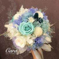 MOP1680   保鮮花新娘花球  日本保鮮花乓乓菊+玫瑰+奧斯汀玫瑰+繡球花