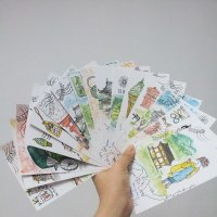 水彩手繪明信片課程