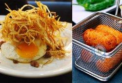義賣:MOP106  BarCelona Tapas & Rice 特色主打小食: 煎蛋配薯仔和西班牙腸+經典西班牙炸丸子奶油