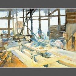 路環荔枝碗船廠寫生2 Live Drawing at the deserted dockyard in Coloane 2