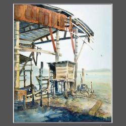 路環荔枝碗船廠寫生1 Live Drawing at the deserted dockyard in Coloane 1